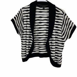 Striped knit sweater shrug size large